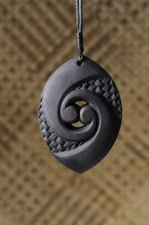 koru rubber pendant black