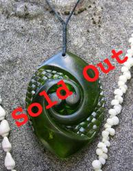 koru resin (sold out) kauri green